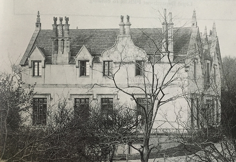 Netherbyres House when first built in 1840's